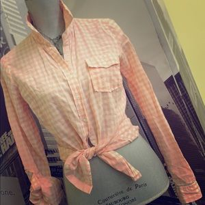 Gorgeous pink & white detailed shirt